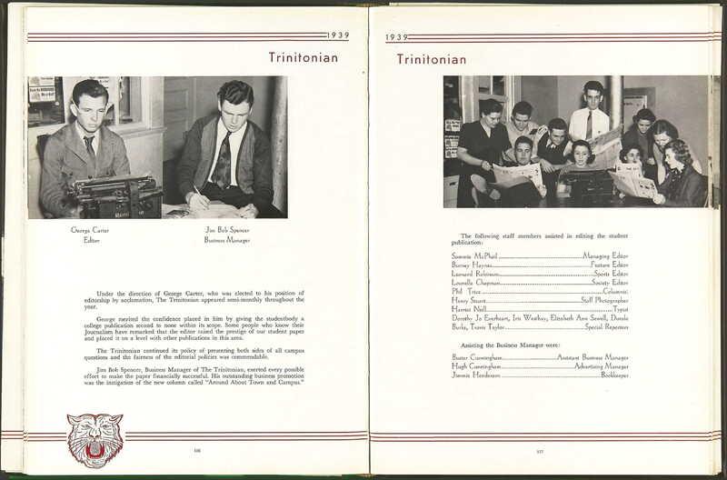 1939: The Trinitonian Staff