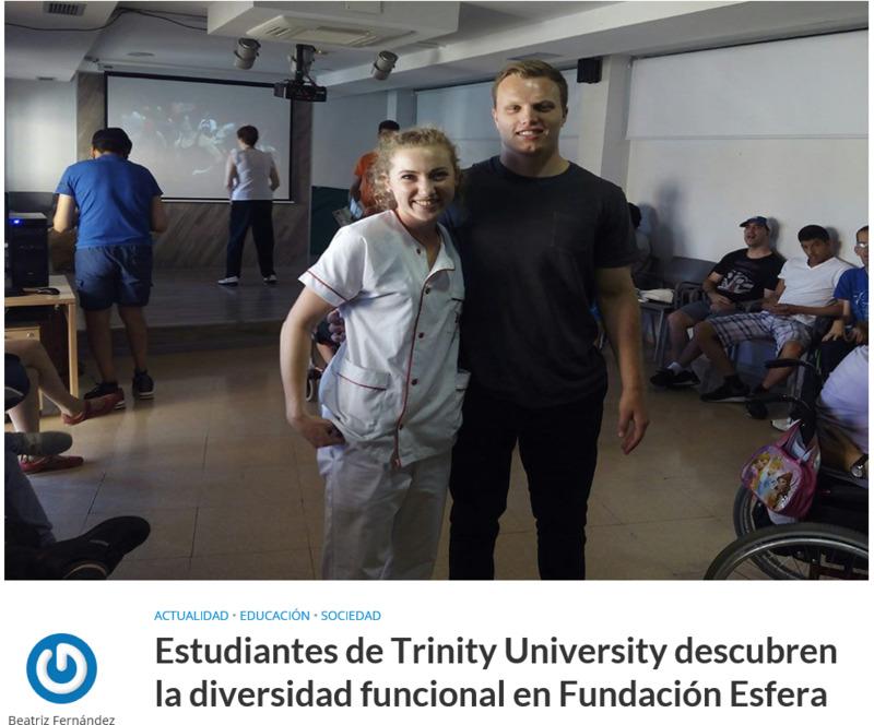 2018: Estudiantes de Trinity University descubren la diversidad funcional en Fundación Esfera